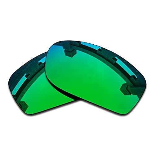 SYEMAX Lentes polarizadas de repuesto compatibles con gafas de sol Oakley Fives Squared – varias opciones, Verde zafiro Polarizado, Talla única