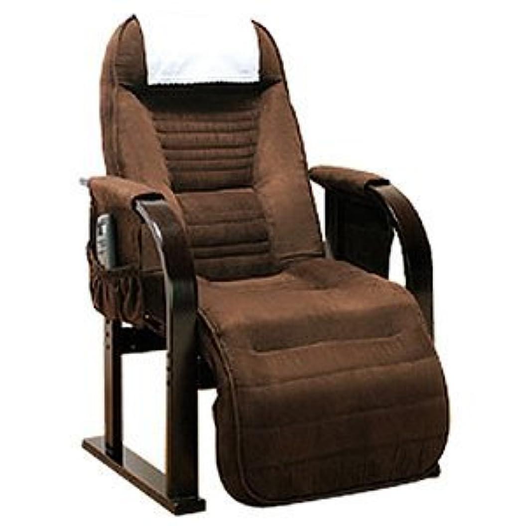 モネアジテーション項目座椅子 低反発 リクライニング 天然木 高座椅子