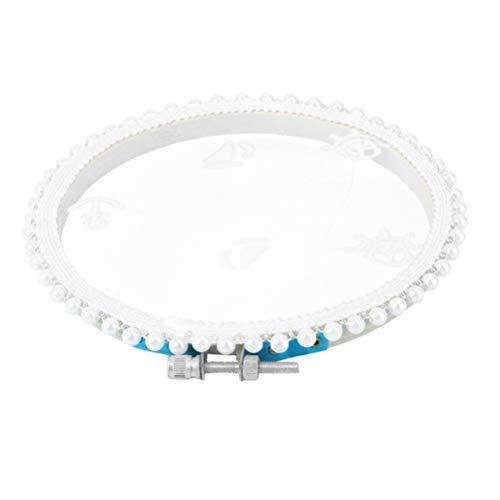 PRETYZOOM Organizador de pendientes de encaje con perlas para colgar en la pared, decoración de bodas, decoración del hogar, accesorios de fotografía, 13 x 13 cm