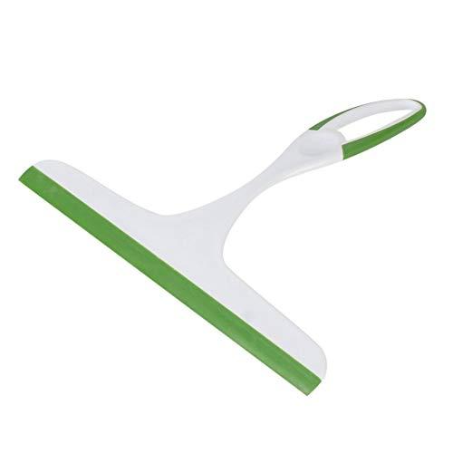 Water-chestnut Soft Silicone Glass Window Wiper CleanerShower Bathroom Mirror Scraper Green