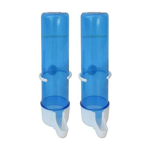 GFEU 2 STK Papageienkäfig Wasserspender Kunststoff AutomatischTrinkwasserzufuhrflasche für Vögel Tauben (125ML)
