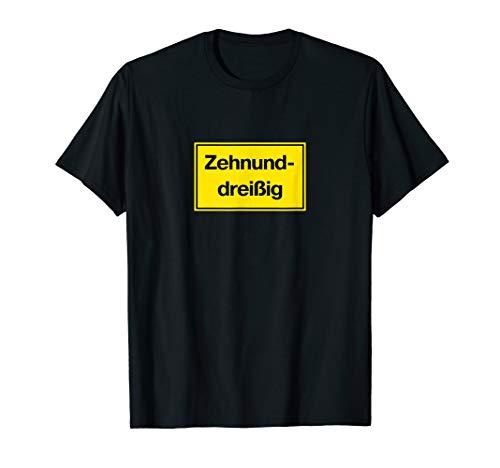 Zehnunddreißig 40. Geburtstag Bauarbeiter Handwerker Spaß T-Shirt