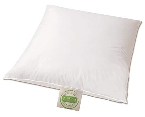 Öko Daune Kissen 80x80 weich 70% Recycling Federn 30% Recycling Daune nachhaltig wertvoll vom Betten Fachgeschäft Klimaneutrales Produkt