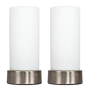 Chrome White Glass Touch