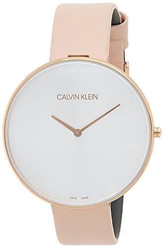 Calvin Klein Reloj Analógico para Mujer de Cuarzo con Correa en Cuero K8Y236Z6