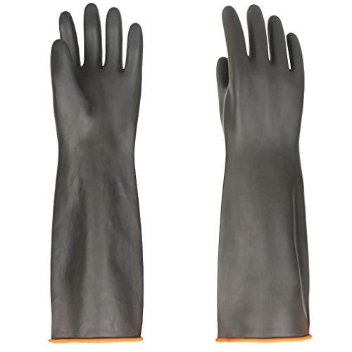 Handschuhe Säurefest Lang-Chemikalien Schutz Handschuhe-Säure-und Alkalibeständigkeit handschuhe Chemie Handschuhe, Handschuhe Schwarz 1 Paar 45 cm, Nur Eine Größe