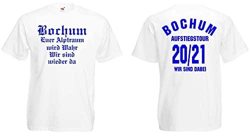 Bochum Aufstiegs-Tour T-Shirt von S-XXXL Aufsteiger 2020/21 Weiss-M