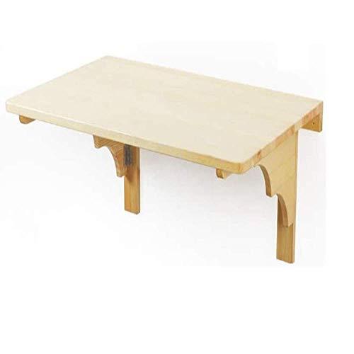 Klapptisch Wandmontage Schreibtisch Küche Esstische Balkon Schreibtisch Faltbares Holz Kinder Schreibtisch Kiefernholz-100x50cm / 40x20in