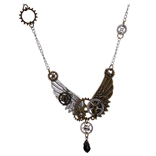 Necklaces for women, men, teen girls, boys,Halloween christmas birthday gifts. Novel Chic Personality Rock Fashion Pendant Design. Suitable for the Occasion:Party,Fashion Show,Photo,Prom. This is a very cool steampunk themed necklace built with gear ...