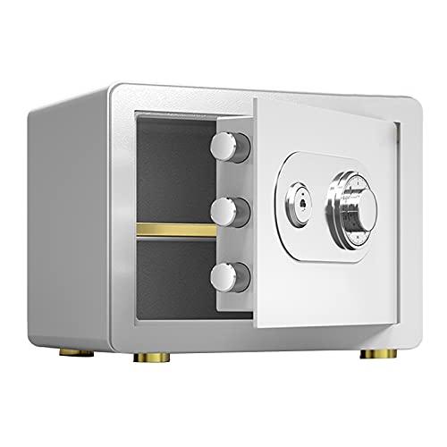 Tresor 25cm Feuerfeste Safes,Kleiner Familien-Wandtresor,Manipulationssichere Und Bruchsichere Aufbewahrungsbox Aus Stahl(Color:Weiß)