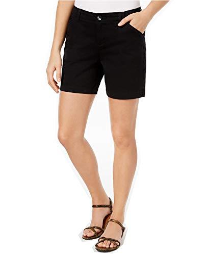 LEE Platinum Women's Tailored Chino Shorts (Black, 2)