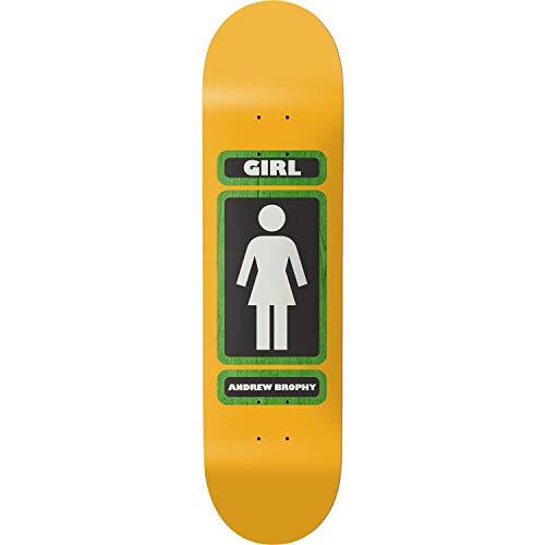 Girl Skateboard-Brett/Deck, 20,3 cm, Mädchen, Andrew Brophy Gelb, 8.25