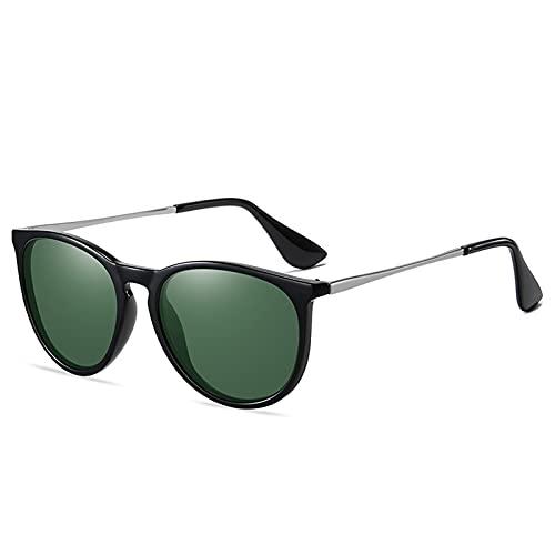 LIEIKIC Gafas de sol para hombre y mujer, polarizadas, estilo vintage, gafas de conducción, unisex, filtro de luz azul, para deportes al aire libre, conducción, marco de policarbonato