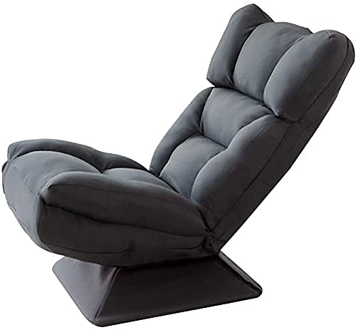 Sillón Lazy Sofa con Individual 360 & deg;Silla de juego acolchada con rotación 5 engranajes respaldo ajustable silla de meditación con funda extraíble y lavable para sala de estar (Color: Azul)