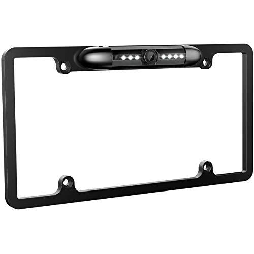 BOYO VISION VSL300L - Full-Frame License Plate Backup Camera with Built-in LED Lights (Black)
