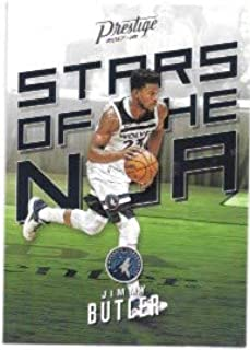 Jimmy Butler 2017-18 Prestige Stars Of The NBA Minnesota Timberwolves Insert Card #8
