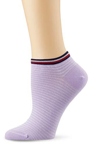 Tommy Hilfiger Damen TH Women Resort Sneaker 2P Füßlinge, Violett (Pink Combo 174), 39/42 (2er Pack)