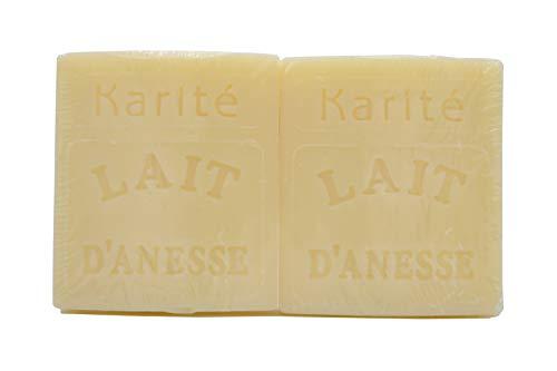 Savon au Lait d'Ânesse - parfum KARITÉ (2X100g)