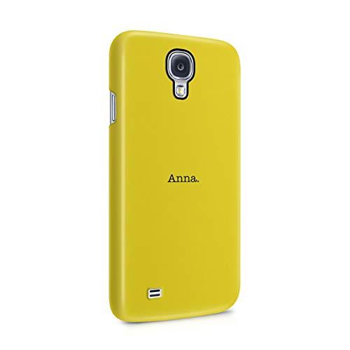 Personalizado Funda Protectora de Plástico Duro, Para Samsung Galaxy S4 Mini Custom Quote Name Surname Initials Letter Customized Text Yellow Minimal Simple Iniciales Personalizadas Funda Delgada