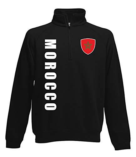 Aprom Marruecos Zip Suéter Look Neck Sport SPA Negro XL