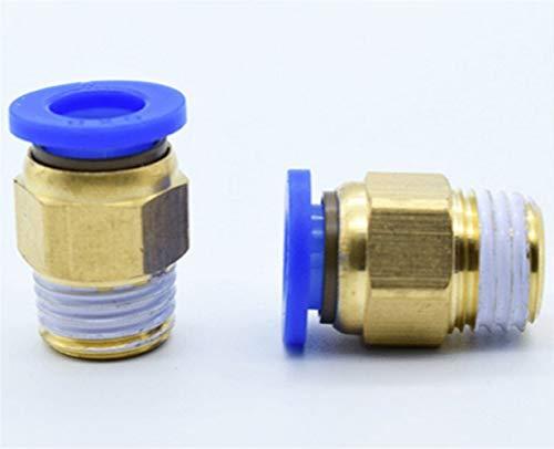 Fuerte y robusto 10pcs PC' Push recta en la adaptación de empuje neumático for conectar Aire 4-12mm Tubo DE Manguera 1/8' 1/4' 3/8' 1/2' BSP rosca macho Conector Manguera de jardín.