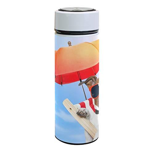 Botella de agua de acero inoxidable con aislamiento al vacío para tumbona de perro, termo de doble pared, tazas de café, deportes, viajes, senderismo al aire libre, tazas para bebidas calientes y frías