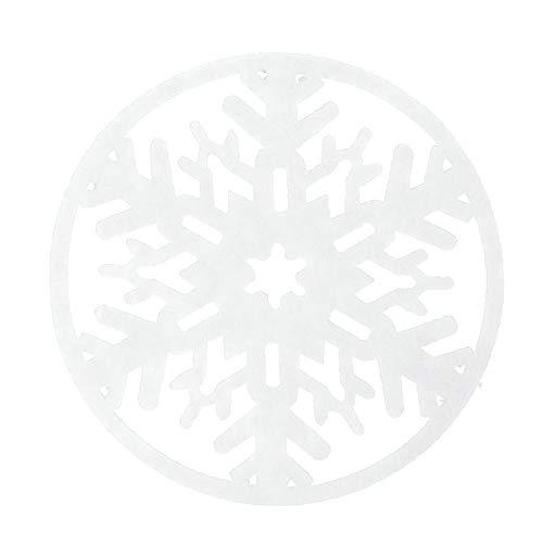 Lester Nell Weihnachts Verzierungs Schneeflocke Untersetzer Wasser Weihnachts Dekoration Rote Filz Schneeflocke GeträNk Wein Kaffeetasse Untersetzer Eingestellt FüR Weihnachtsfeiertags Verzierungen
