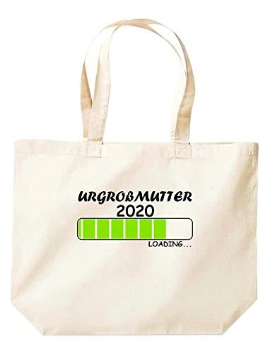 Shirtinstyle Stoffbeutel Jute, Urgroßmutter Loading 2020, Logo, Spruch, Verwandschaft, Mann, Frau, Ehe, Liebe, Motiv, Farbe Natur