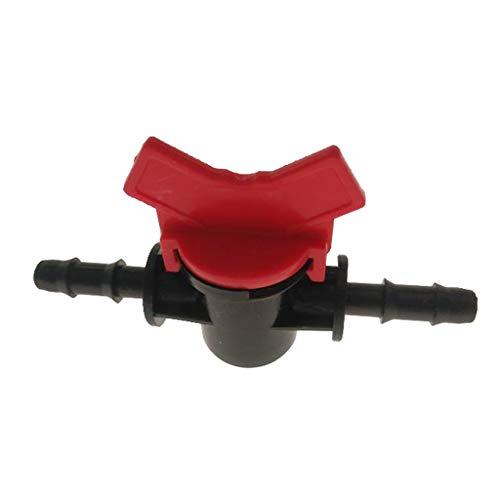 Aquarium Regelventil Wasser Durchflussregler Hebelventil für 4mm/8mm/10mm/12mm Wasserschlauch - rot, 8mm