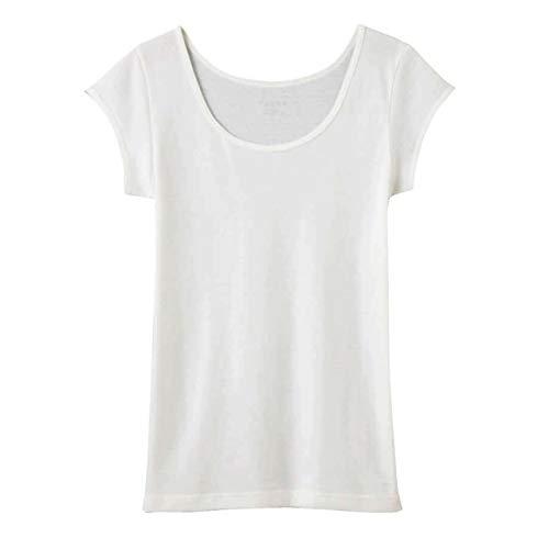 [グンゼ] インナー Tuche トゥシェ INTIMATE 着るコスメ 綿100% フレンチ袖 TC4052 レディース オフホワイト 日本M (日本サイズM相当)