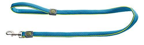HUNTER MAUI Führleine für Hunde, Mesh-Material, weich, leicht, robust, Handschlaufe, 2,0 x 140 cm, blau