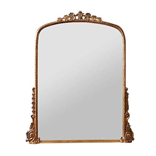 Espejo de tocador Tallado Vintage, Espejo de Entrada de Estilo Europeo, Espejo...
