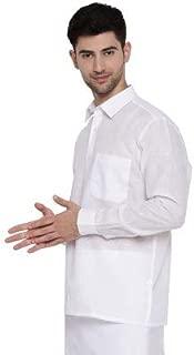 RAMRAJ Mens Cotton White Full Shirts