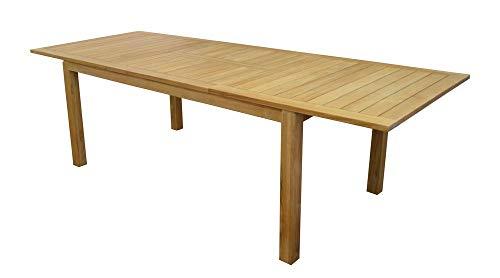 Proloisirs Table De Jardin Madagascar - 180/260X100 - Teck