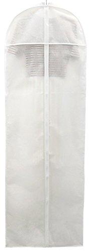 HIMRY [5er Set Atmungsaktiver Kleidersack 180cm lang, Langer Reissverschluss, Schutzhülle für Brautkleider/Abendkleider/Anzüge/Mäntel, Weiß, KXB1005 White -5X