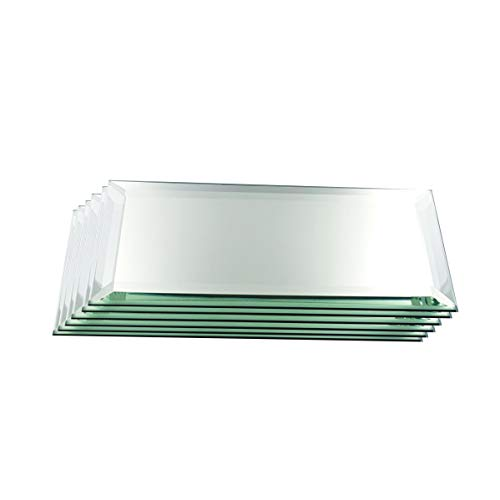 Set of 6 3MM Bevel Rectangle Mirrors for Your Crystal Figurines, Other Collectibles, Craft Projects (2' x 3')