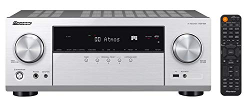 Pioneer VSX-934 7.2-Kanal Netzwerk AV Receiver (7x160 Watt, Dolby Atmos, DTS:X, Dolby Atmos Height Virtualizer, Sonos, Zone 2, AirPlay 2, Bluetooth, USB), Silber