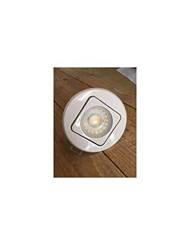 Support de spot encastrable rond orientable blanc - GU10