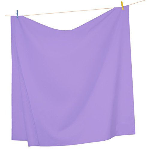 Mezzati Luxury Flat Top Sheet – Soft and Comfortable 1800 Prestige Collection – Brushed Microfiber Bedding (Lilac Lavender, King Size)