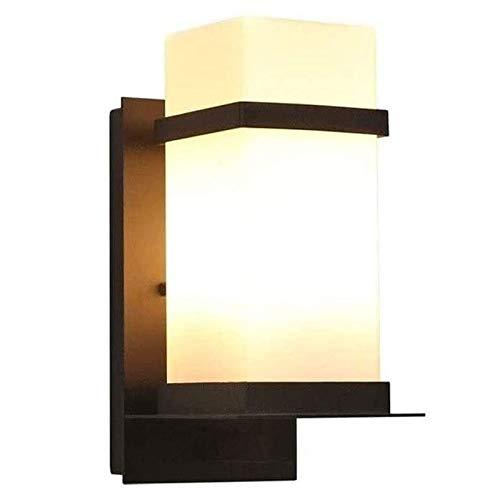 Rindasr wandlamp voor binnen en buiten wit gesatineerde lampenkap waterdicht roestvrije bronskleurige lampbehuizing warmwit voor de veranda Balc