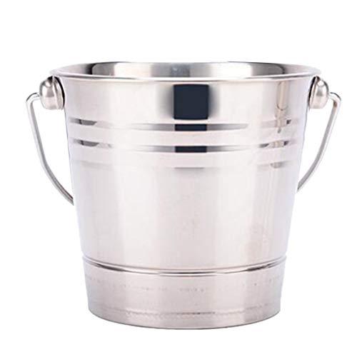 YWSZJ Cubo de Hielo de Acero Inoxidable Champagne Wine Bucket Cooler para Bar Restaurante (Size : 2.5L)