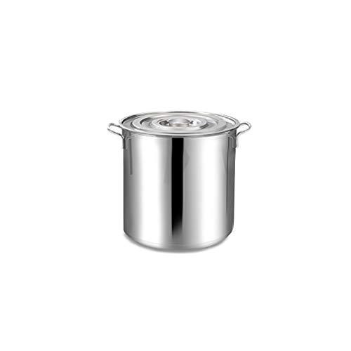 Grande Marmite profonde en acier inoxydable Casserole Marmite, de gagner du temps Basse température cuisine fond du pot composite, 20cm de diamètre, 20 cm de hauteur