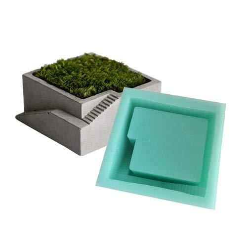 Moule en silicone pour pot de fleurs, gypse, ciment charnu, pot de fleurs