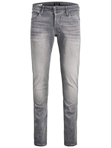 JACK & JONES Herren JJIGLENN JJICON JJ 257 50SPS NOOS Slim Jeans, Grau (Grey Denim Grey Denim), W30/L30