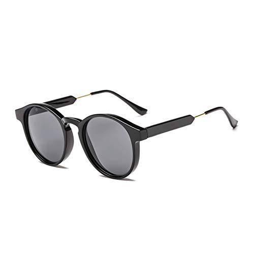 RongWang Gafas De Sol Redondas Retro para Hombre, Mujer, Unisex, Diseño Vintage, Gafas De Sol Pequeñas para Hombre, Gafas De Conducción, Gafas UV400 (Color : 3)