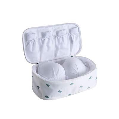 1 stücke Multifunktionale Reiseveranstalter Aufbewahrungstasche BH Unterwäsche Tasche Kosmetik Make-up Tasche, (MulticolorOptional) Weiß