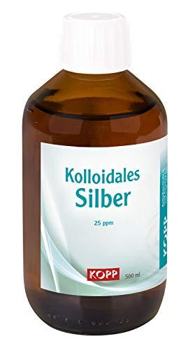 Kolloidales Silber 25ppm | 500 ml | Reinheit über 99,99% | Elektrolytische Herstellungsverfahren mit Colloidmaster CM 1000 P