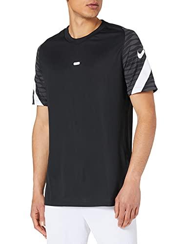 Nike Dri-Fit Strike 21, Maglia Manica Corta Uomo, Nero/Antracite/Bianco/Bianco, M