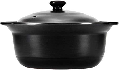 HYYDP Cacerolas Casserole Platos con Tapas de cazuela de Arcilla Caja de Arcilla Pot-Anti-Scald y Resistente al Calor, diseño Especial (Size : 1.7L)