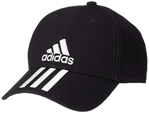 adidas 6 Panel 3 Stripes Cotton Twill, Headwear Uomo, Black/White/White, OSFM